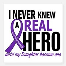 "Cystic Fibrosis Real Her Square Car Magnet 3"" x 3"""