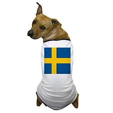 Flag of Sweden Dog T-Shirt