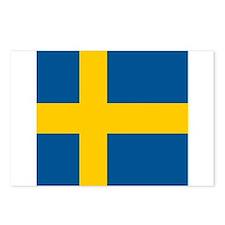 Flag of Sweden Postcards (Package of 8)