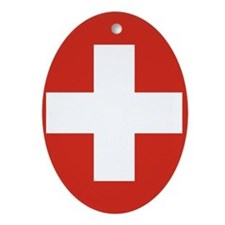 Flag of Switzerland Ornament (Oval)