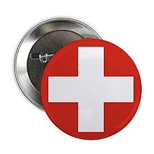 "Flag of Switzerland 2.25"" Button (10 pack)"