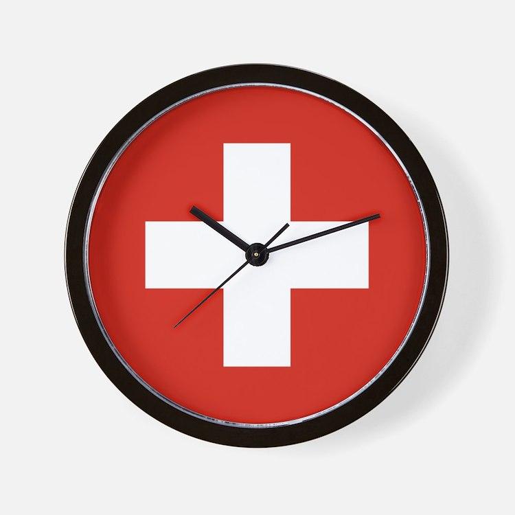 Swiss Cross Clocks Swiss Cross Wall Clocks Large