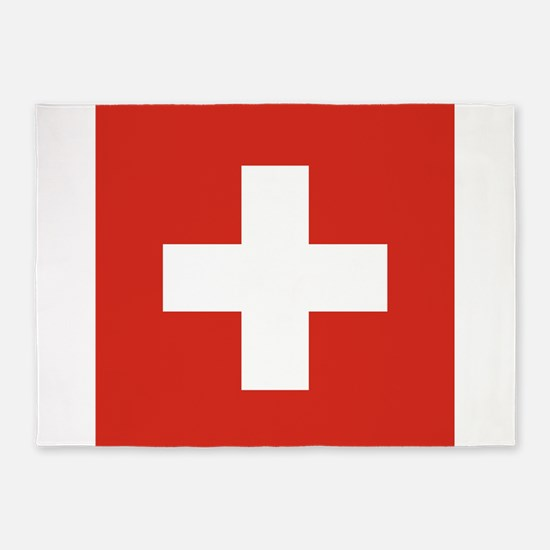 Flag of Switzerland 5'x7'Area Rug