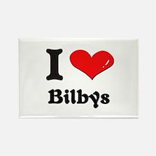 I love bilbys Rectangle Magnet