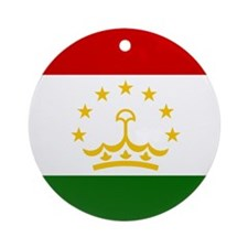 Flag of Tajikistan Ornament (Round)