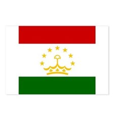 Flag of Tajikistan Postcards (Package of 8)