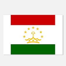 Flag of Tajikistan Postcards (Package of 8)