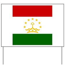 Flag of Tajikistan Yard Sign