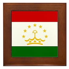 Flag of Tajikistan Framed Tile