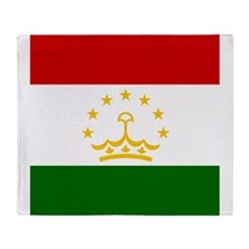 Flag of Tajikistan Throw Blanket