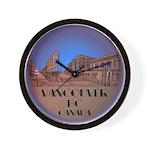 Vancouver Souvenir Wall Clock Vancouver Artwork