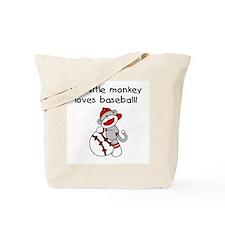 Little Monkey Loves Baseball Tote Bag
