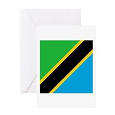 Flag of Tanzania Greeting Cards