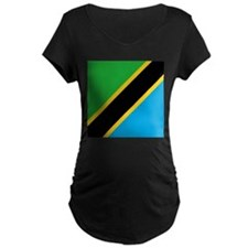 Flag of Tanzania Maternity T-Shirt
