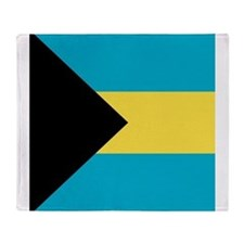 Flag of the Bahamas Throw Blanket