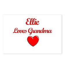 Ellie Loves Grandma Postcards (Package of 8)