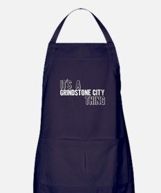 Its A Grindstone City Thing Apron (dark)