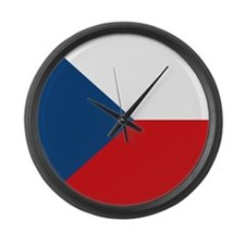 Flag of the Czech Republic Large Wall Clock