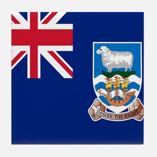 Flag of the Falkland Islands Tile Coaster