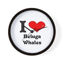 I love beluga whales  Wall Clock