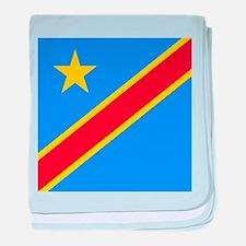 Flag of Congo baby blanket