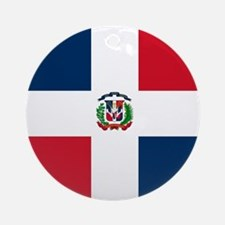 Flag of the Dominican Republic Ornament (Round)
