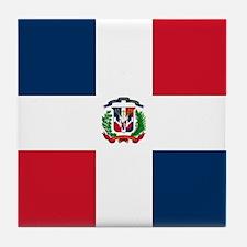 Flag of the Dominican Republic Tile Coaster