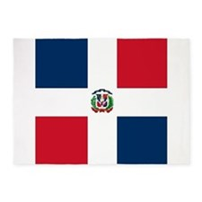 Flag of the Dominican Republic 5'x7'Area Rug