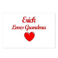 Erick Loves Grandma Postcards (Package of 8)
