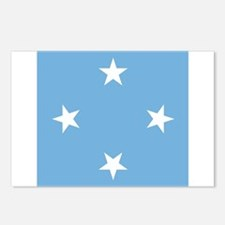 Flag of Micronesia Postcards (Package of 8)