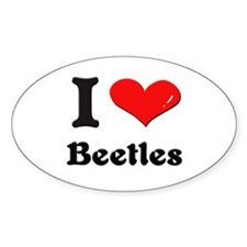 I love beetles Oval Decal