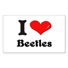 I love beetles Rectangle Decal