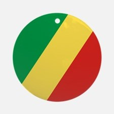 Flag of the Republic of the Congo Ornament (Round)