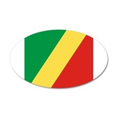 Flag of the Republic of the Congo Wall Sticker