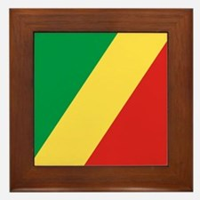 Flag of the Republic of the Congo Framed Tile