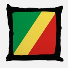 Flag of the Republic of the Congo Throw Pillow