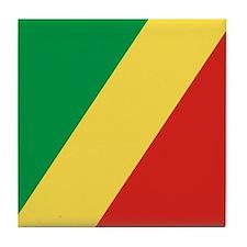 Flag of the Republic of the Congo Tile Coaster