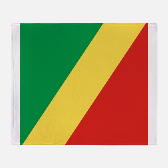 Flag of the Republic of the Congo Throw Blanket