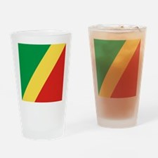 Flag of the Republic of the Congo Drinking Glass