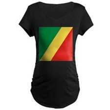 Flag of the Republic of the Congo Maternity T-Shir