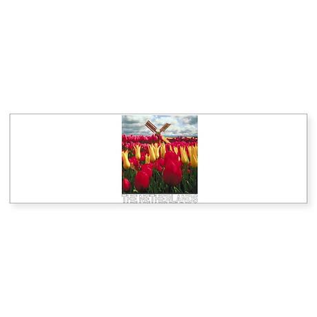Netherlands Tulips (Dark) Bumper Sticker