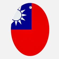 Flag of Taiwan Ornament (Oval)