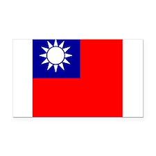 Flag of Taiwan Rectangle Car Magnet