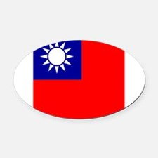 Flag of Taiwan Oval Car Magnet