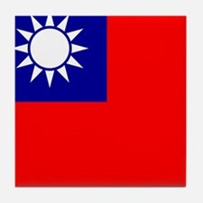 Flag of Taiwan Tile Coaster