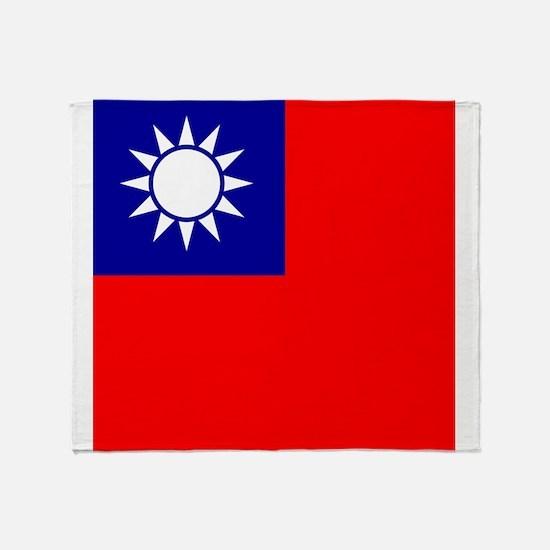 Flag of Taiwan Throw Blanket