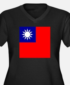 Flag of Taiwan Plus Size T-Shirt