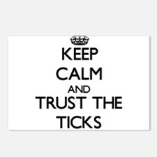 Keep calm and Trust the Ticks Postcards (Package o