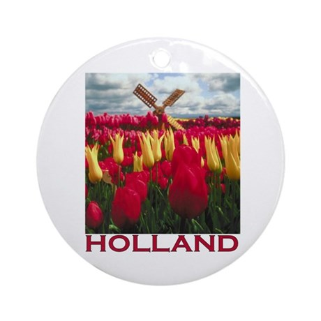 Holland Tulips Ornament (Round)
