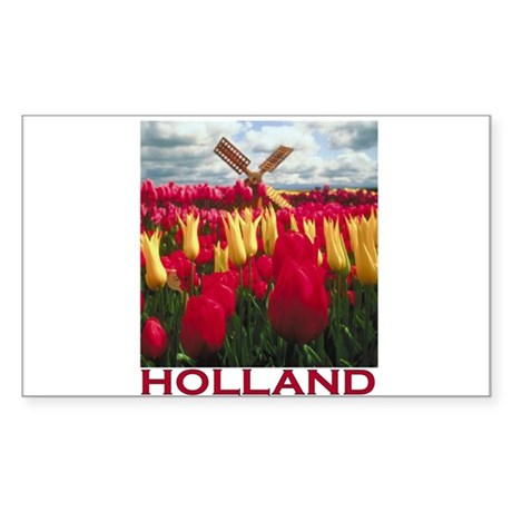 Holland Tulips Rectangle Sticker
